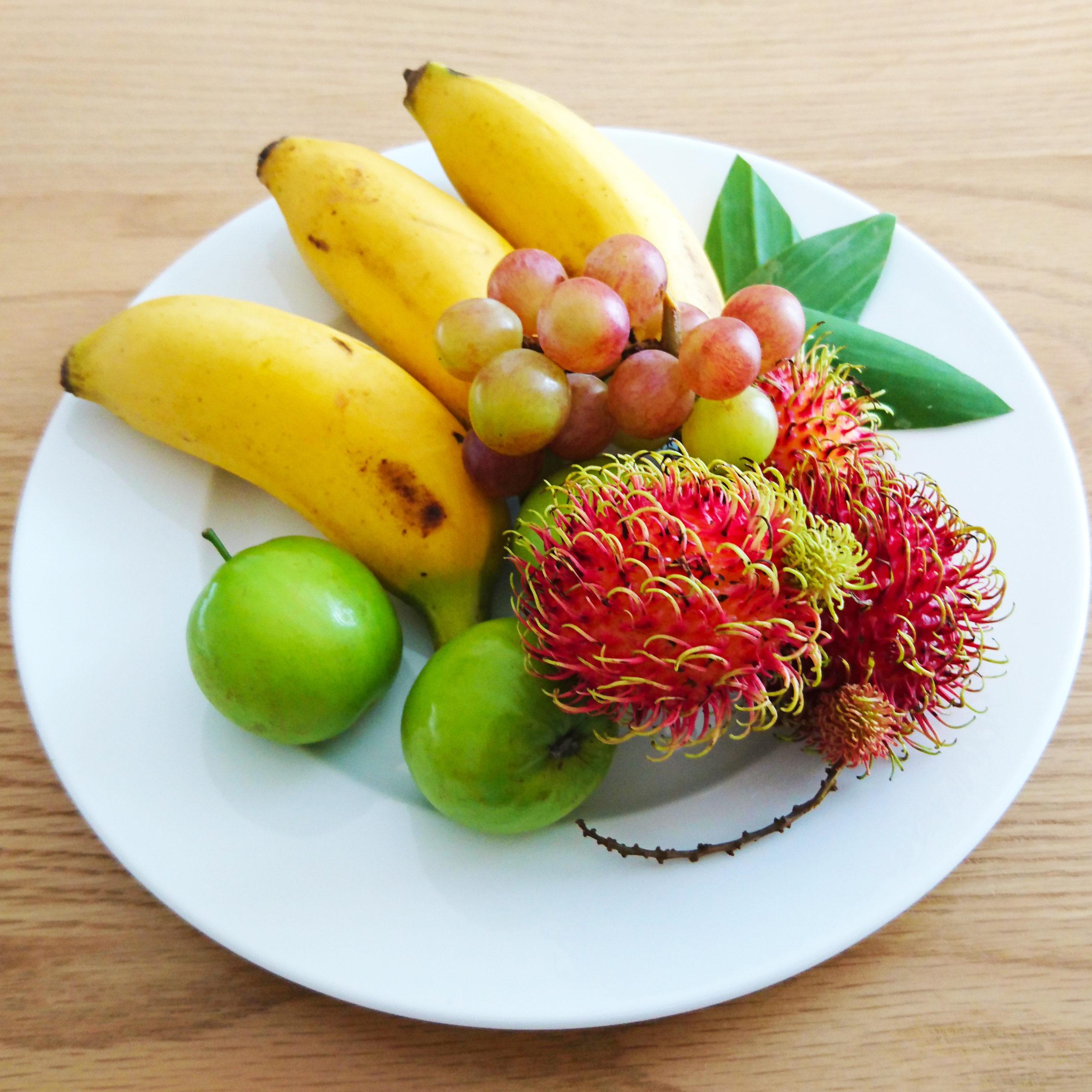 Les fruits exotiques et vivre sous les tropiques